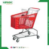 180L食料雑貨品店のプラスチックショッピングトロリーカート