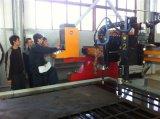 Tipo plasma do pórtico da folha de metal do CNC e máquinas de estaca chanfradas da flama