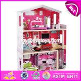 Novo Design Meninas fingir brinquedos enormes Dollhouse Madeira W06A229