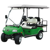 4-местный поле для гольфа тележки туристического автомобиль с Складные задние сиденья