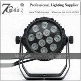 RGBWA+UV LEDの同価は照明12X18W LED段階ライトを缶詰にする