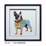 装飾のためのハンドメイド3D芸術の絵画壁絵画かわいい犬の絵画