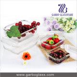 Envase de alimento del tazón de fuente de la jerarquización de Bakeware del vidrio de Borosilicate