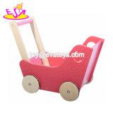 歩くW16e082のための卸し売り安いピンクの木の赤ん坊押しのおもちゃ