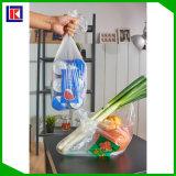 Sac à provisions en plastique fait sur commande se pliant de produit pour le supermarché