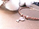 Schlüsselform-hängendes Armband mit Leder in Brown für Mann-Frauen