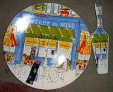 De versterkte Plaat van de Cake van het Porselein van Cjl017