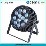 Piscina de 15W 12pzas RGBW PAR LED de luz de la etapa de Zoom