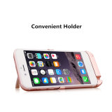 10000mAh Deux-USB Retour Clip Power Bank Slim Battery Case avec support pour iPhone 6p / 6sp / 7p