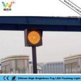 Lumière clignotante lumineuse superbe de temps brumeux de sécurité routière