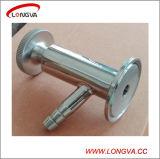 Aço inoxidável Medidas Sanitárias Tri Rosca de fechamento da válvula de amostragem