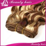 3PCS 7A malaysische spinnt blondes verworrenes lockiges preiswertes russisches Honig-blondes lockiges Haar der Jungfrau-Haar-Extensions-613 für Verkauf