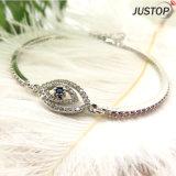 Aquamarine-glänzendes Armband mit Augen-Element des Teufels für Frauen