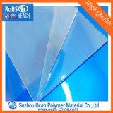 Suzhou Ocan de plástico transparente de PVC Hoja rígida con exfoliable PE película protectora de la caja plegable