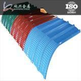 Extensão longa folha de alumínio colorida da telhadura do trapésio do zinco