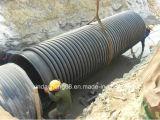 Linha de produção da tubulação do enrolamento do calibre da parede dobro do HDPE grande