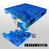 """1100*1100 (44 """" *44 """") de Beste Prijzen Rekupereerbare Waidely gebruikten Gestapelde Plastic Pallet"""