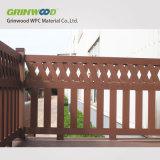木製のプラスチック合成の装飾的な木ずりWPCの手すり