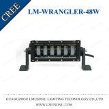 논쟁자 LED 표시등 막대 크리 말 48W 지프를 위한 10.5 인치