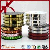 Weihnachtsgeschenk-Paket gedrucktes lockiges Farbband