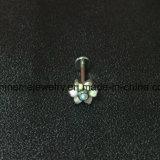 Perfuração Titanium Piercing do corpo da jóia da alta qualidade com pedra Opal (LAET003)