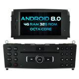 Witson Octa-Core (oito core) Android Market 8.0 aluguer de DVD para Mercedes Benz Classe C W204 2007-2011 4G ROM Ecrã Táctil 1080P 32GB ROM ecrã IPS