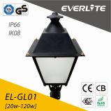 Lámpara del jardín de Everlite 120W LED con IP66 Ik08