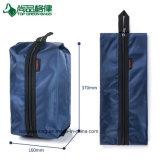 カスタム方法ナイロン旅行靴袋のジッパーが付いているFoldable靴袋