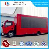 Camion dello schermo di Isuzu LED, video mobile del camion Xxx dello schermo dei 6 carrai LED, LED che fa pubblicità al camion