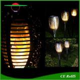 Impermeable al aire libre LED Luces de jardín solar llama amarilla la luz de fuego