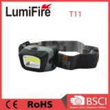 T11 COB FAROS LED Portable de emergencia al aire libre Camping COB AAA 3LED potente faro