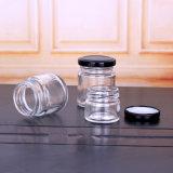 Mini-bocal en verre transparent avec couvercle supérieur de la vis de gros bocaux en verre de bourrage papier