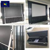 Xy экраны 200 дюймов быстро экран проектора складывания крыльев с черными шторки
