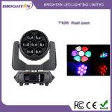 小型7*40W LEDの洗浄ズームレンズの移動ヘッド段階ライトを明るくしなさい