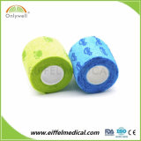 Cores delicadas não tecidos ligaduras veterinários coesa de impressão