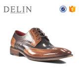 熱い販売の本革の人の服靴