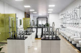 Lavabo en céramique d'art de modèle moderne de salle de bains blanche et noire d'articles sanitaires à la mode globaux (2009)