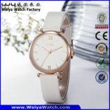 Orologio delle signore del regalo del quarzo della cinghia di cuoio di OEM/ODM (Wy-070A)