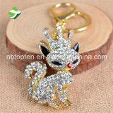 한국 Diamante Fox 모양 키 홀더 관례