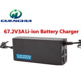 caricabatteria del litio di 67.2V 3A per il motorino del Unicycle dei veicoli elettrici 60V
