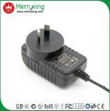 Lampes TV 100 de DEL - type de support du mur 240VAC adaptateur d'alimentation de C.C à C.A. des adaptateurs 15V 1A 15W avec du ce d'UL