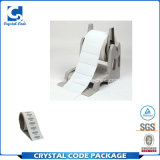 Imprimir etiquetas de códigos de barras de transferencia térmica.