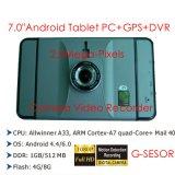 """Androider Auto-Gedankenstrich 2017 des Fabrik-Verkaufs-7.0 """" DVR mit voller HD1080p vorderer Kamera; Hintere Parken-Kamera; Adas Auto-Flugschreiber, externer Tablette 3G PC"""