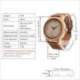 Handmade 자연적인 진짜 대나무 나무로 되는 시계