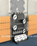 An der Wand befestigte Slatwall doppelte Metallbildschirmanzeige-Regale/Metallausstellung-Standplatz
