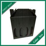 Деревянное напечатанное зерно придает форму чашки коробки цвета упаковывая