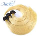 Weave человеческих волос выдвижения волос Remy 613 темных корней белокурый прямой