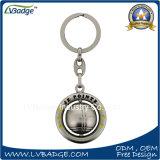 Изготовленный на заказ логос поворачивает цепь металла ключевую с кольцом