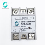 Сср-90da 90А 3-32В пост управления 24-380В переменного тока нагрузки 1 этапа DC-AC SSR Твердотельные реле
