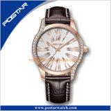 型の男女兼用簡単で標準的なダイヤルデザインダイヤモンドのMiyotaの水晶腕時計